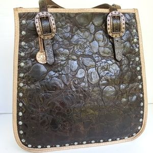 Double J Saddlery Daisy Tooled Square Tote